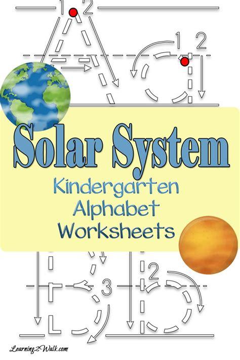 solar system for preschoolers lesson plans solar system kindergarten alphabet worksheets a well 400