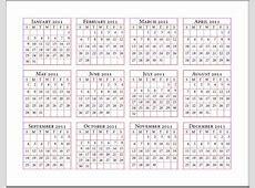 12 Months Calendar calendar yearly printable