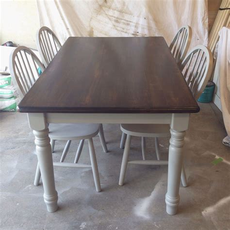 Painted Kitchen Furniture by Painted With Rustoleum Spray Paint Gray Minwax Stain