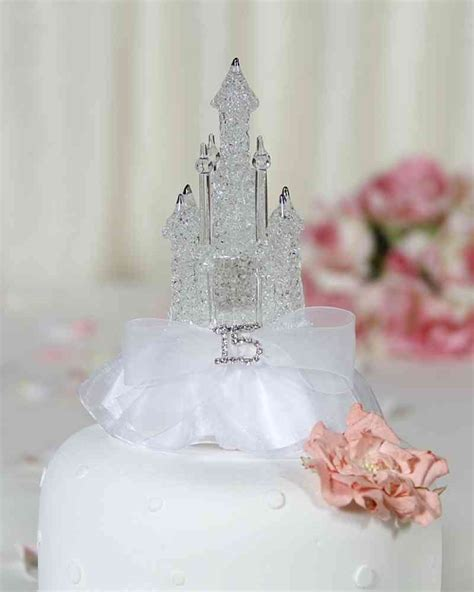 quinceanera cake toppers rhinestone quinceanera sweet sixteen cinderella castle