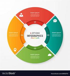 Circle Chart Infographic Template For Royalty Free Vector