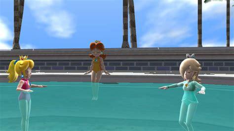 Peach,daisy,and Rosalina Swimming Mmd By Hyper-mario-64 On