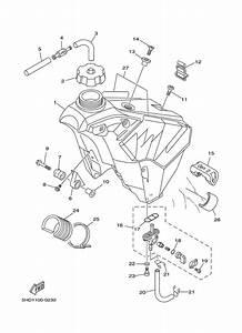 Fuel Tank For 2000 Yamaha Yz250