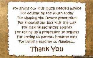 thank you messages to teachers from parents notes and quotes wishesmessages