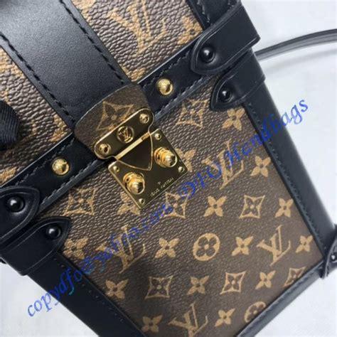 louis vuitton monogram canvas vertical trunk pochette  luxtime dfo handbags