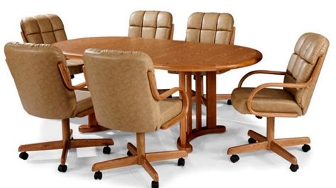 mesmerizing dining room chairs  wheels  arms youtube