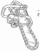 Chainsaw Drawing Outline Chain Getdrawings sketch template