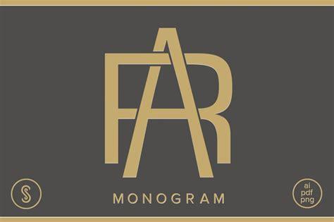 ar monogram ra monogram logo templates creative market
