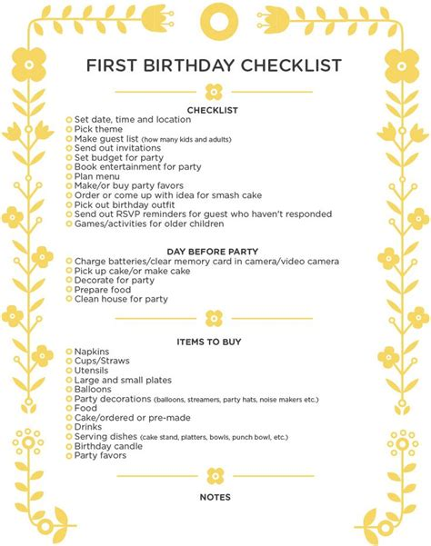 Carnival Birthday Checklist Best 25 Checklist Ideas On Birthday