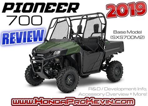 2019 Honda Pioneer by 2019 Honda Pioneer 700 Review Specs Accessories