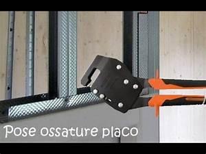 Doubler Un Mur En Placo Sur Rail : pose placo ossature lay a frame for plasterboard part 1 youtube ~ Dode.kayakingforconservation.com Idées de Décoration