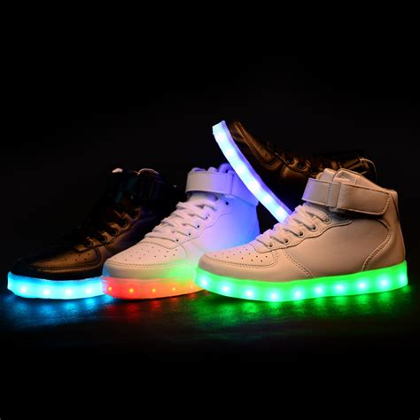 led light up shoes in stores new style led light up shoes flashing sneakers cute