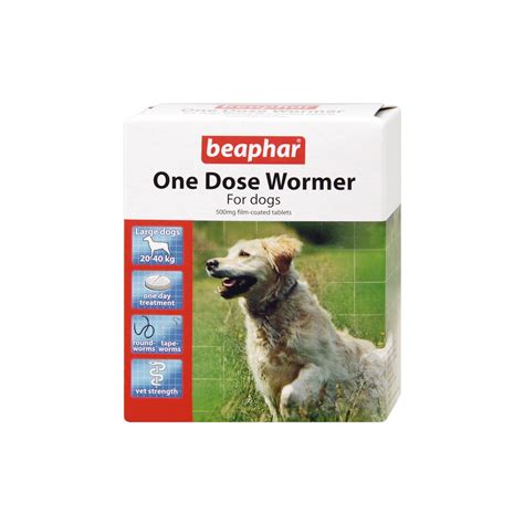 beaphar dog worming tablets  dose multi wormer