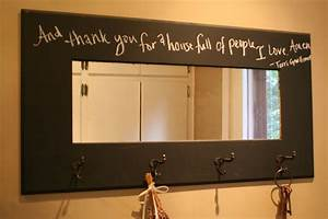 Decor tips diy chalkboard with mirror and coat hook for