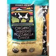 Trader Joe's Organic Shredded Mozzarella Cheese: Calories ...