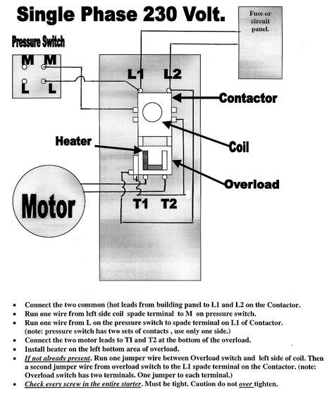 Phase Motor Starter Wiring Diagram Pdf Free