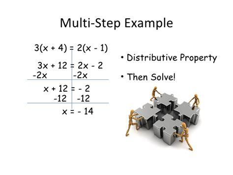 multi step equations worksheet variables on both sides