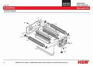 Hsm Classic 125 Sc 125sc Paper Shredder Oem Bearing Plate