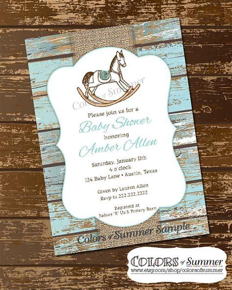 rocking horse baby shower ideas