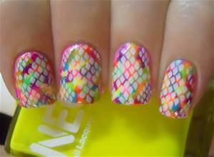 Holy Manicures Neon Snakeskin Nails