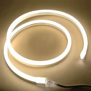 How To Cut 120v Rope Light Custom Warm White Led Neon Flex Rope Light Kit 120v