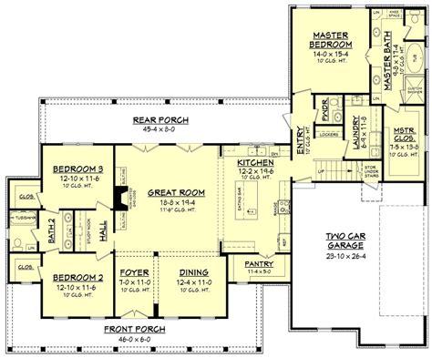 farmhouse style house plan  beds  baths  sqft plan   floorplanscom