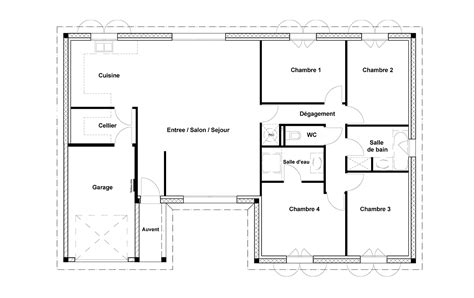 maison 4 chambres gallery of agrandir le plan with maison 4 chambres