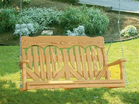 wood high  heart porch swing  dutchcrafters amish