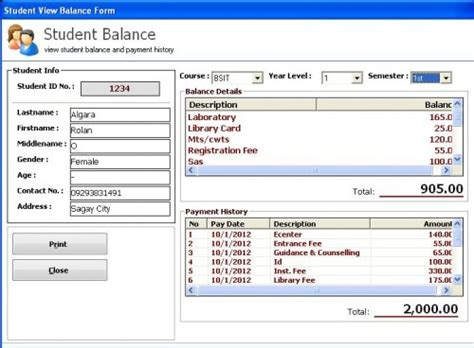 cashiering  student account system  source code