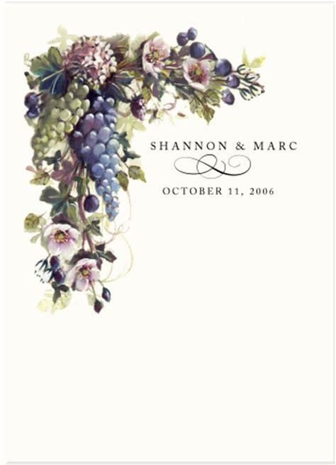 vineyard themed wedding vineyard wedding ideas grapes fruit illustrations pear wedding designs