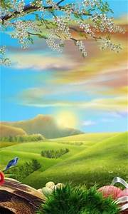Download Cartoon Nature Live Wallpaper for Android