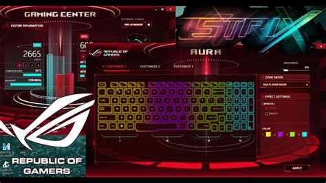 gaming in color asus gaming centre asus aura change keyboard color