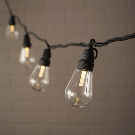 edison string lights acrylic bulbs led 20 warm