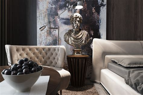 Luxury Furniture : Three Luxurious Apartments With Dark Modern Interiors