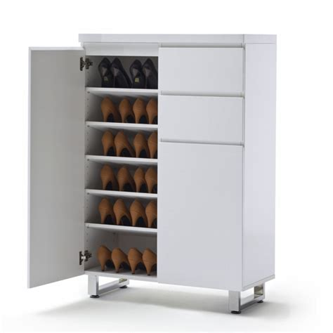 white shoe storage cabinet sign in register