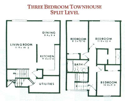 3 townhouse floor plans 3 bedroom townhouse plan design shown represents the