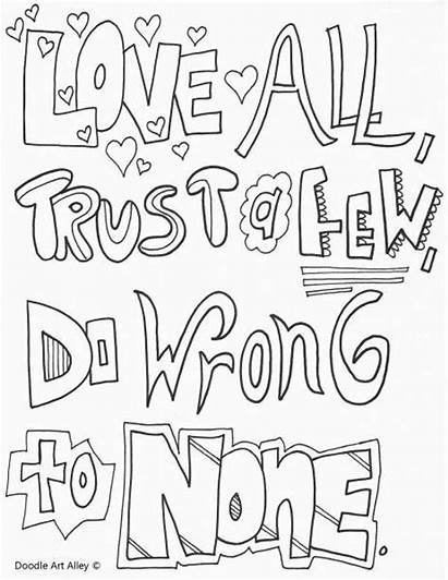 Coloring Pages Quotes Sheets Grade 5th Quote