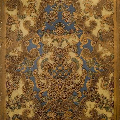 Rococo Leather Antique Tooled Intricate Remnants Remnant