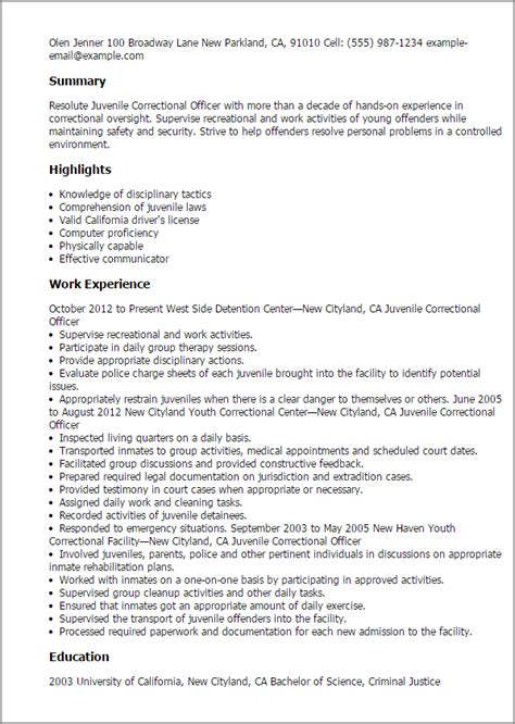 time correctional officer cover letter professional juvenile correctional officer templates to