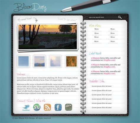 design  diaryjournal web layout  photoshop design bump