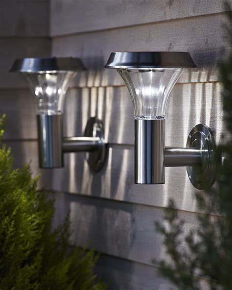 solar sconces outdoor lighting garden solar lights