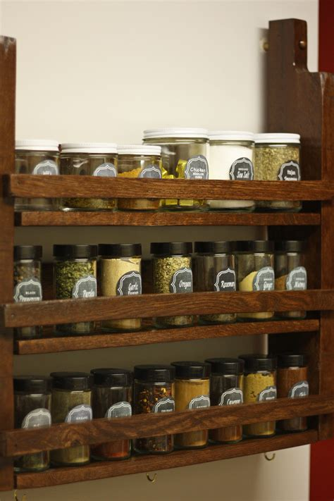 spice rack with spices spice rack less than average height