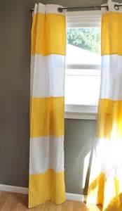 modern stripe curtains in lemon yellow cabana wide stripe