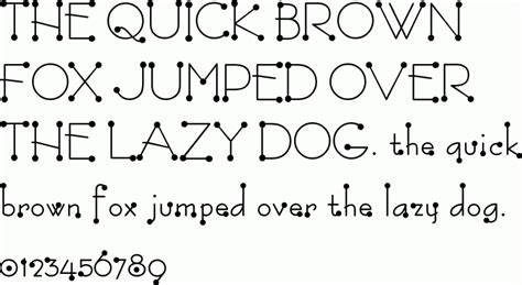 Free Dotted Letter Fonts Download