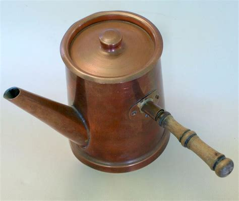 french vtg copper hot chocolate pot professional tin lined chef cook top quality ebay
