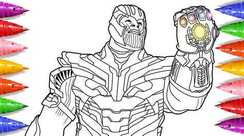 avengers endgame coloring pages coloring thanos and the