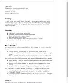 cell phone customer service resume professional hospital switchboard operator templates to showcase your talent myperfectresume