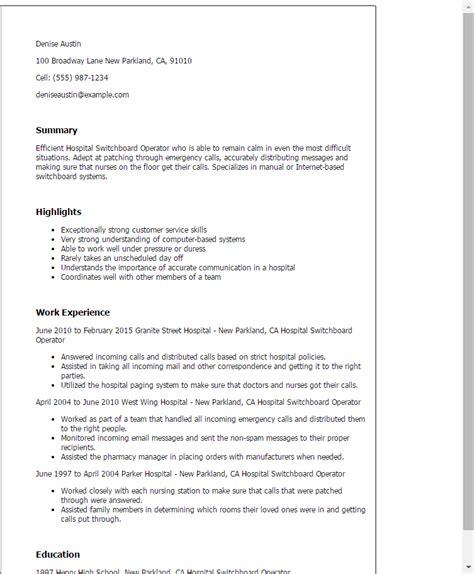 resume language for answering phones