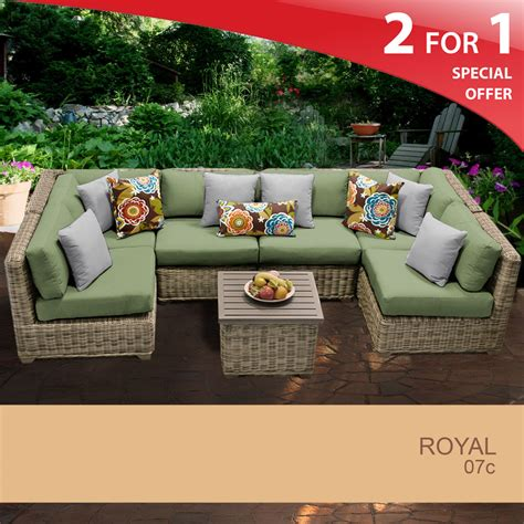 royal 7 outdoor wicker patio furniture set 07c 2 for