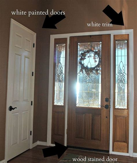 front door makeover from stain to paint hometalk